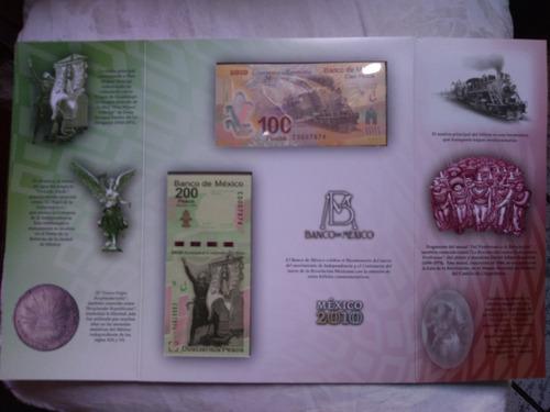 set billetes 2010 bicentenario independencia y revolución