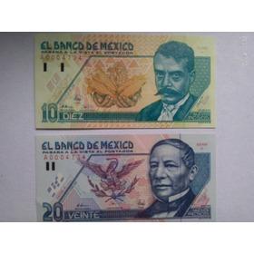 Set Billetes Nuevos Pesos 10 A 500 N$ Serie A Tipo C 1992