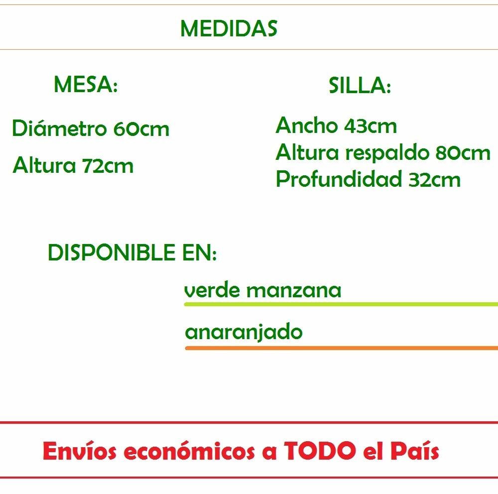 Set Bistro Mesa + 2 Sillas Metal Jardín, Balcón, Cocina, Etc ...