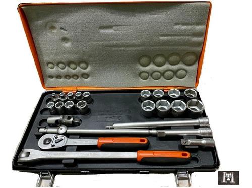 set boca hex 1/2  maletin bahco sx260 - 24 piezas tubo