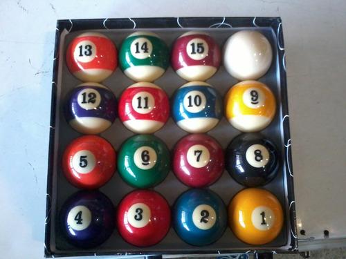 set bolas de pool billar marca phx