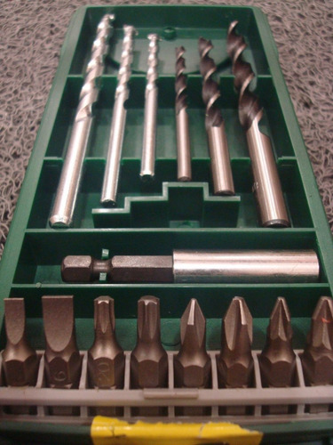 set bosch de mechas y puntas promoline 15 piezas