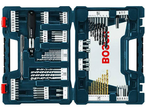 set brocas destornillador v-line 91pz + estuche ms4091 bosch