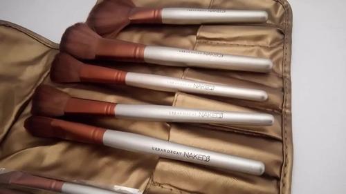 set brochas 27 pcs naked estuche + kit limpieza + labial + e