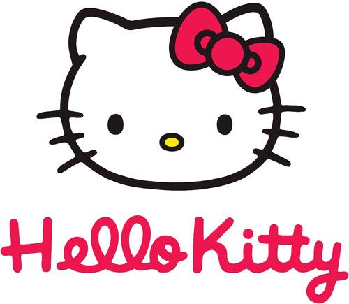 set brochas 7 pcs hello kitty estuche + labial+ envio gratis