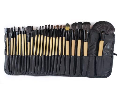 set brochas para maquillaje x 24 und + estuche. elije color