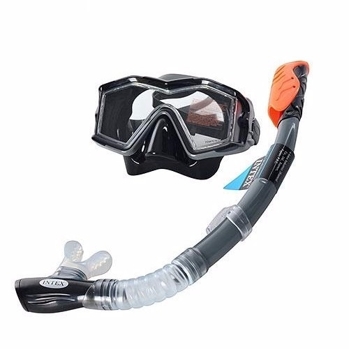 set buceo gafa vidrio templado careta snorkel 2va intex55961