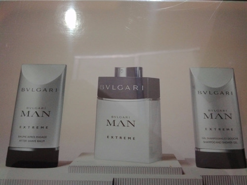 set bulgari man extreme x 60ml +after shave 75ml+shampo 75ml
