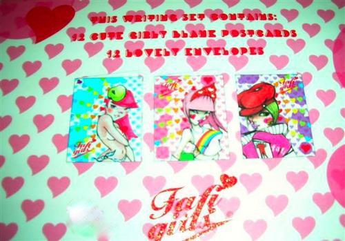 set caja tarjetas+sobres fafi artista kawaii.ed.limitada.bbf