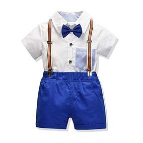 1dc9ca880 Set Camisa Short Tirantes Y Moño Para Niños 4 Marca Carlstar