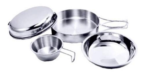 set camping cocina individual acero inox explorer pro shop