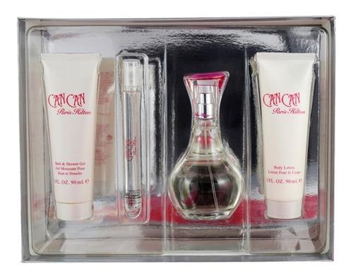 set can can 4 pzs 100 ml eau de parfum spray + body lotion 9
