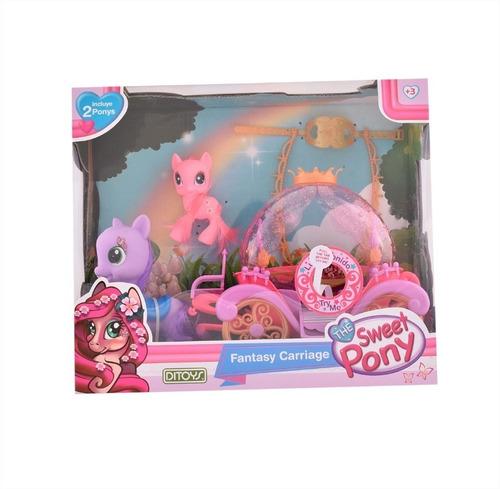 set carruaje fantasy carriage sweet pony original ditoys