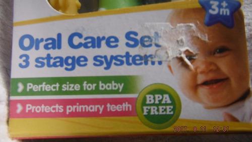 set cepillos de dientes + 3 meses bpa free