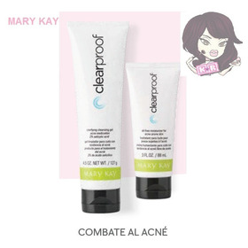 Set Clear Proof Mary Kay Combate Al Acné Limpiador Y Humecta