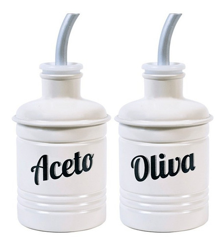 set cocina aceto aceite oliva blanco