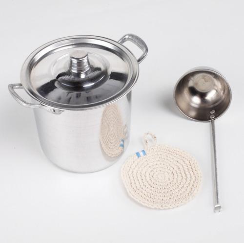 set cocina para niños de verdad cocinita 5 pzas juguete
