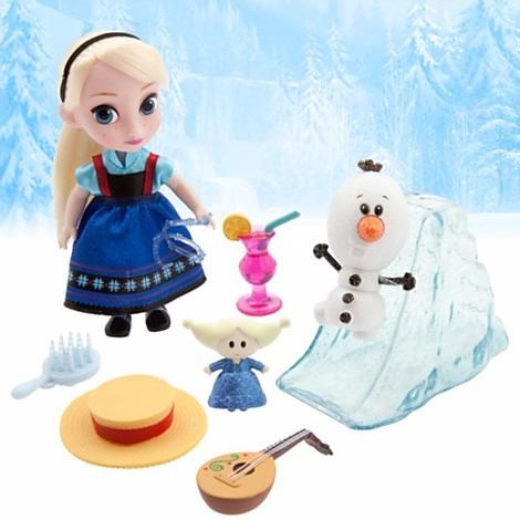 set coleccion elsa mini animators  frozen  (12 cm) a1626