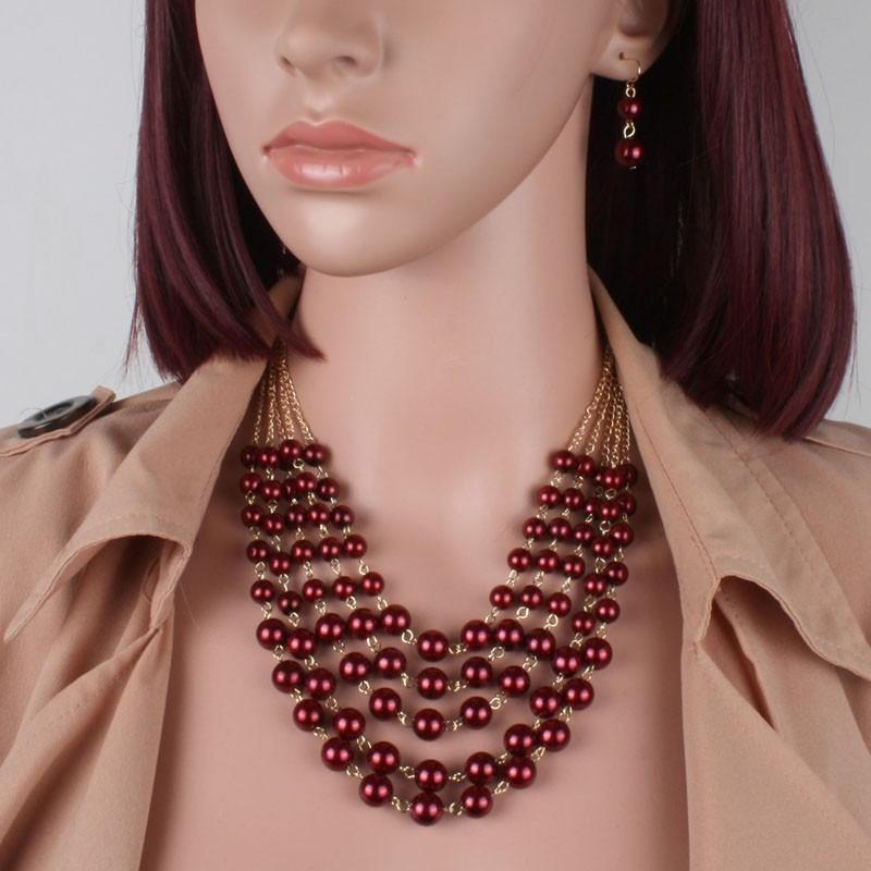 6d81acadec41 set collar y aretes de perla y cristal moda bisuteria fina. Cargando zoom.