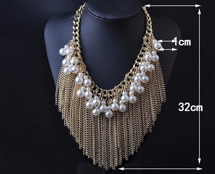 604c0eedfe19 Set Collar Y Aretes De Perlas Elegante Dorado Y Plata -   299.99 en ...