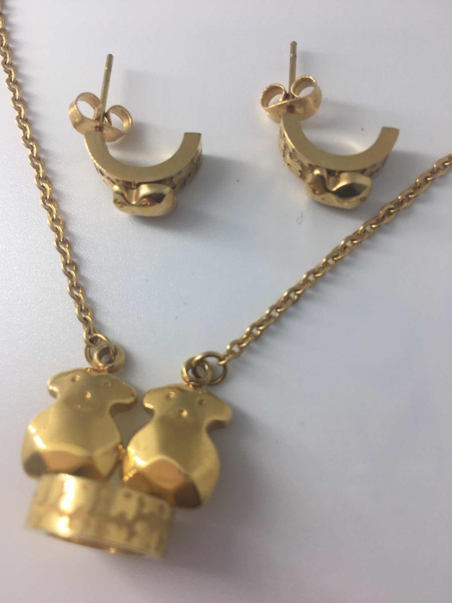 9a7879dacc88 Set Collar Y Aretes Tous Oro Laminado 18k -   490.00 en Mercado Libre