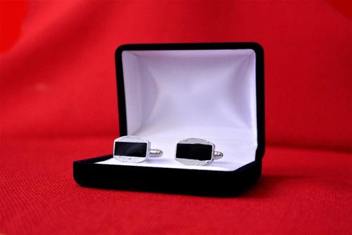 set colleras (gemelos) con diseño 100% acero #1