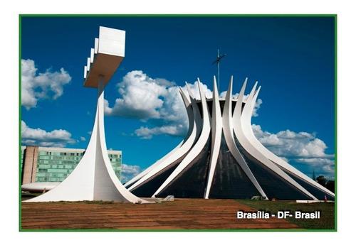 set com 6 cartões postais brasília