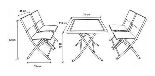 set comedor rattan 4 puestos sillas plegables mesa jardin ea