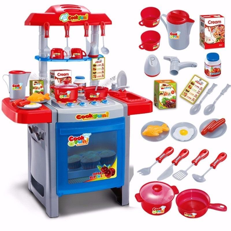 Set comida cocina juguete ni a regalo en - Cocinas para ninos de juguete ...