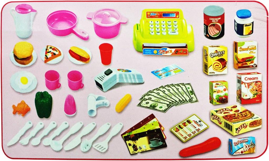 Set comida r pida 59 piezas cocina juguete ni a regalo Cocina juguete carrefour