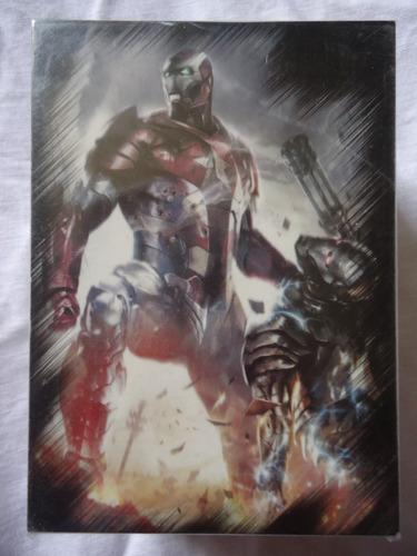 set completo 81 tarjetas marvel heroes y villanos 2010