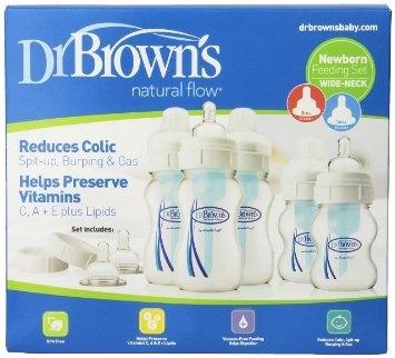 set completo  dr.brown's - boca ancha 5 biberones de lujo