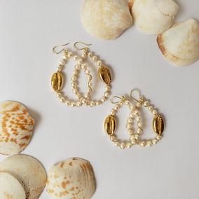mejor amado b378f 0a104 Set Conchitas Aretes, Pulseras Y Collar De Perlas De Río