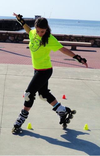 set conos  freestyle slalom  roller fitness deportes