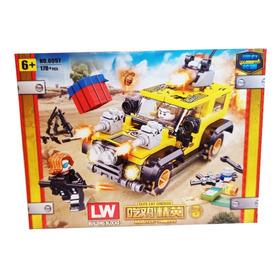 Set Construccion Tipo Lego Pubg Elite Jeep Amarillo 178 Pzs