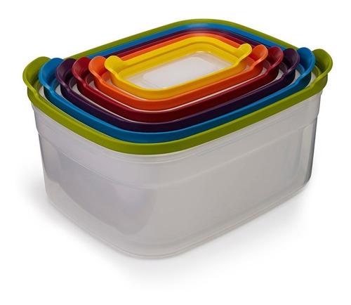 set contenedor x 6 joseph joseph hermeticos tupper cocina
