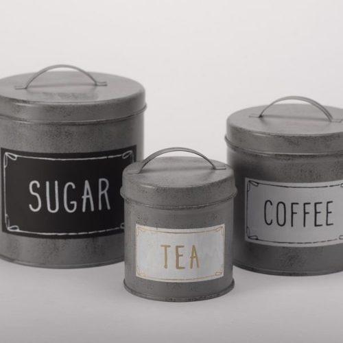 set contenedores café, azucar y te këssa envio gratis cdmx