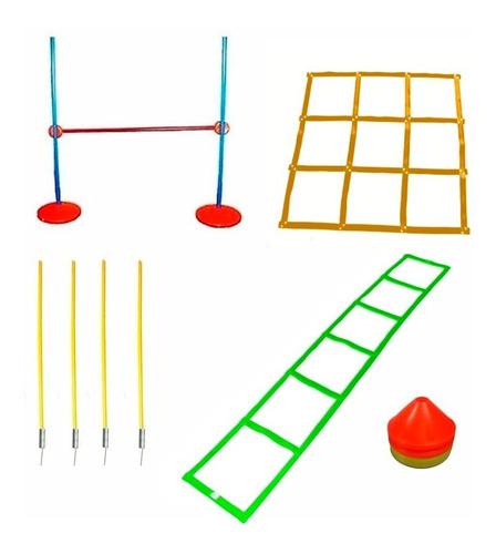 set coordinacion escalera conos valla cuadrilatero bastones