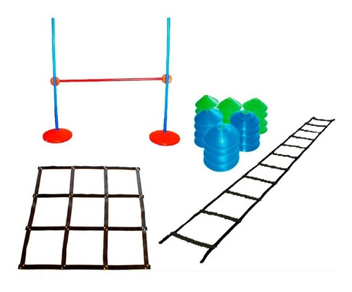 set coordinacion kit escalera conos valla cuadrilatero combo