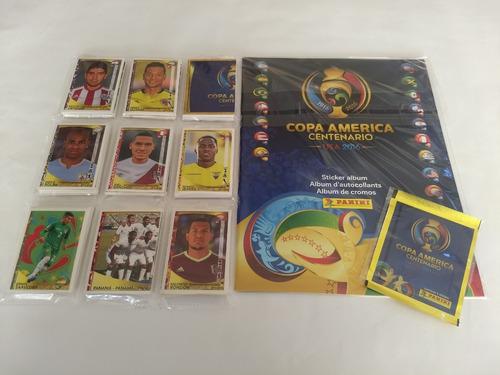 set copa america centenario 2016 + barajitas a pegar *25v*