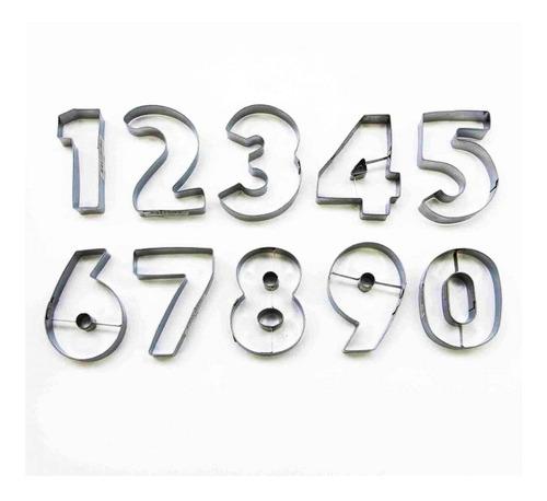 set cortantes numeros metal / lauacu