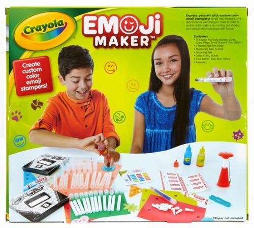 set creativo crayola emoji maker xtreme c