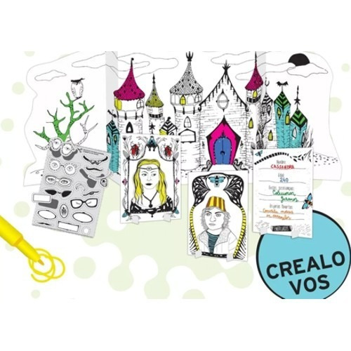 set creativo embrujados pizzini j3002 para colorear