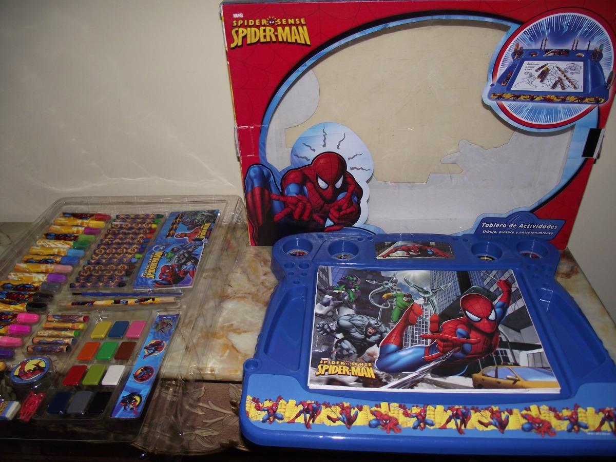 Set Creativo Para Dibujar Y Colorear Spider Man
