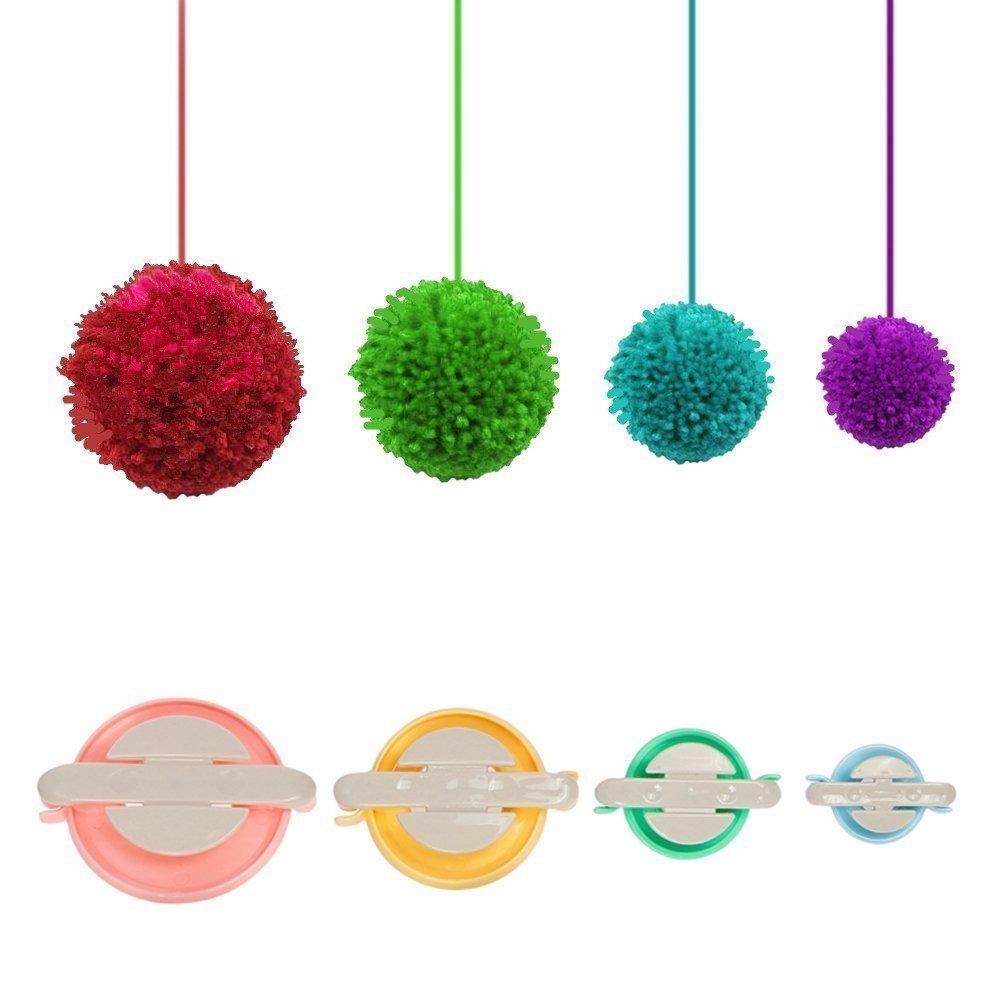 Set Crochet Pom Pom Corazon Bastidor Tejido Redondo Navidad - $ 550 ...