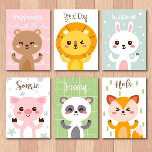 Set Cuadros Canvas Cuarto Bebé Animalitos Personalizables - $ 885.00 ...