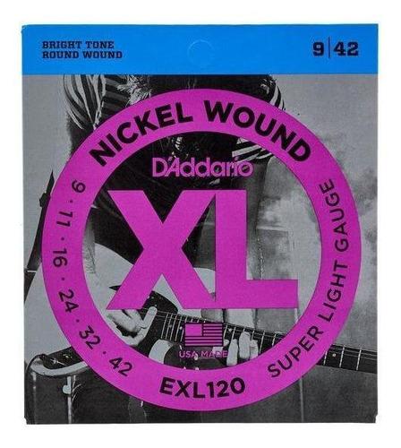 set cuerdas guitarra eléctrica exl120 (6) s.light daddario