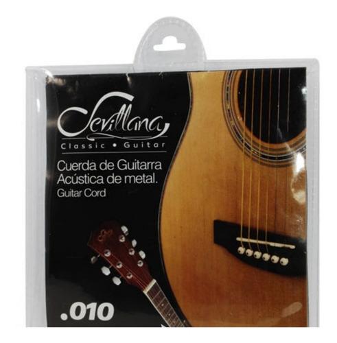 set cuerdas sevillana guitarra acustica metal 010