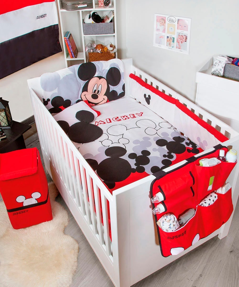 Set De Edredon Para Cuna De Bebe Mickey Mouse Disney Pijamer