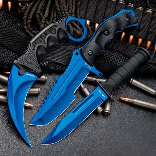 set d 3 cuchillos black legion atomic blue counter strike:go